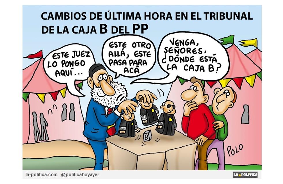 """Cambian los jueces de """"la caja b"""" del PP ¡Qué suerte tiene el Partido Popular! ¿O no?"""