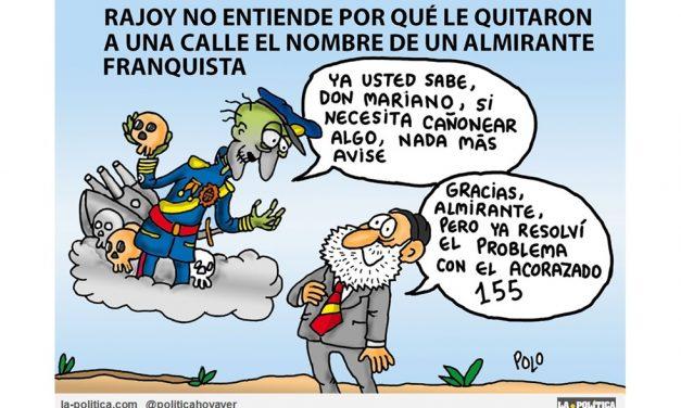 El presidente del gobierno de España manifiesta sus preferencias por el fascista Salvador Moreno antes que por Rosalía de Castro, y aquí no pasa nada