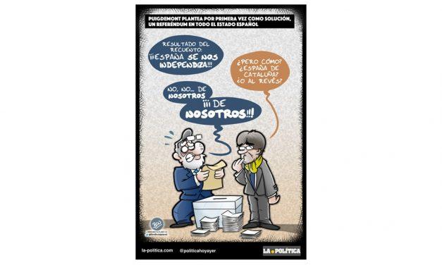 Puigdemont plantea por primera vez como solución, un referéndum en todo el estado español