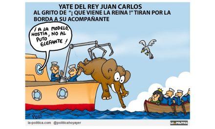 """Según """"Il Corriere della Sera"""" los hombres de servicio del rey Juan Carlos lanzaron a una modelo al mar desde su barco, cuando se dieron cuenta de que la reina Sofía estaba llegando al yate"""