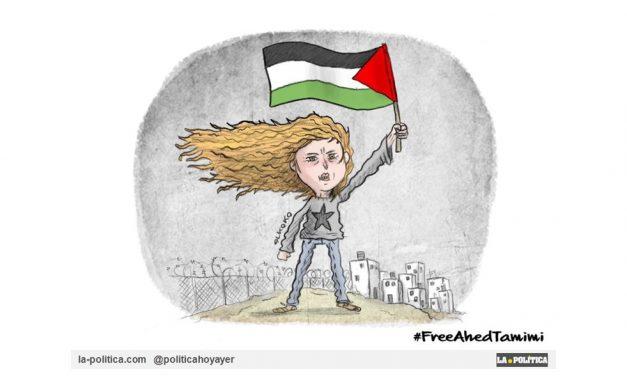 """La joven Ahed Tamimi, de 16 años, considerada """"la última esperanza del pueblo palestino"""", se enfrenta a 10 años de prisión por abofetear a un soldado israelí"""
