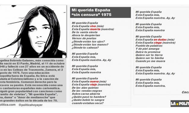 """Cecilia: """"Mi querida España"""" sin censura, abril de 1975"""
