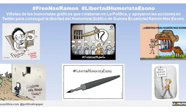 Retiran todos los cargos contra el Humorista Gráfico de Guinea Ecuatorial, Ramón Nse Esono. ¡Gracias a tod@s l@s que habéis participado en las acciones para apoyar su puesta en libertad! #LibertadHumoristaEsono