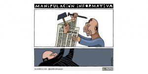 Medios de comunicación, medios de manipulación Viñeta Eneko las Heras