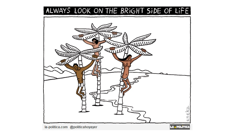 "Monty Python: ""Always look on the bright side of life"""
