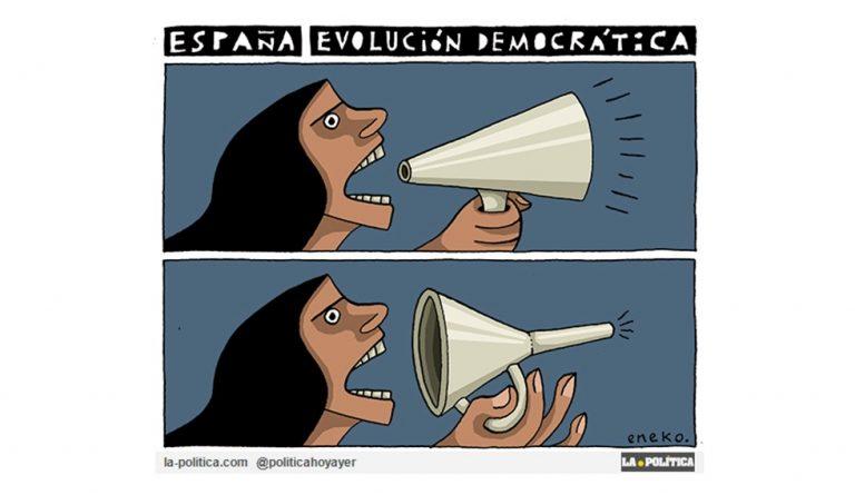 Una democracia de mierda Viñeta de Eneko Artículo Caracola
