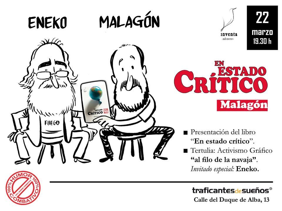 """Presentación del libro """"En estado crítico"""" por Malagón y Eneko"""