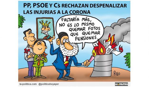 PP, PSOE y C´s rechazan despenalizar las injurias a la Corona