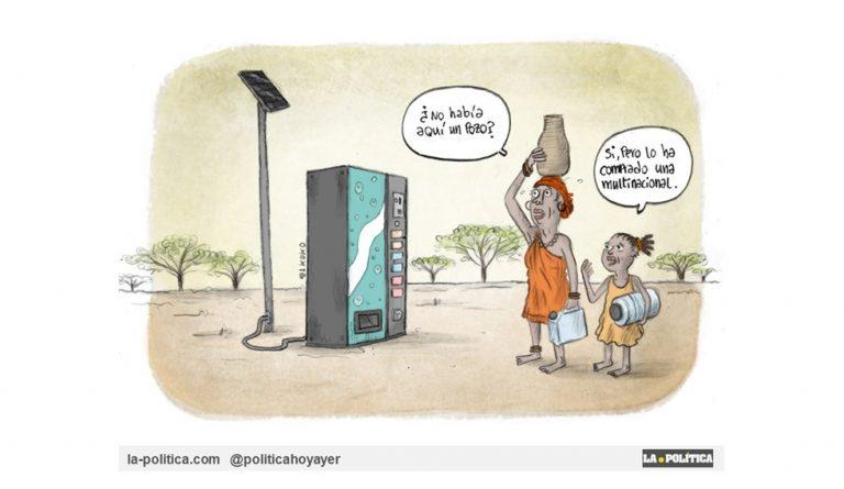 "Leonardo Boff: ""Es imprescindible llegar a un pacto social mundial sobre el agua"" Viñeta El Koko"