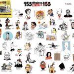 """Los humoristas gráficos del libro colectivo """"155 dibuixos contra el 155"""""""
