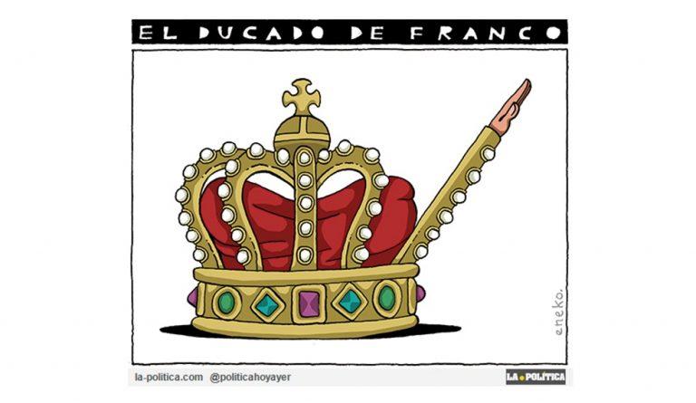 ¿Por qué Juan Carlos I otorgó el título de Duquesa a la hija del dictador Francisco Franco? Viñeta Eneko