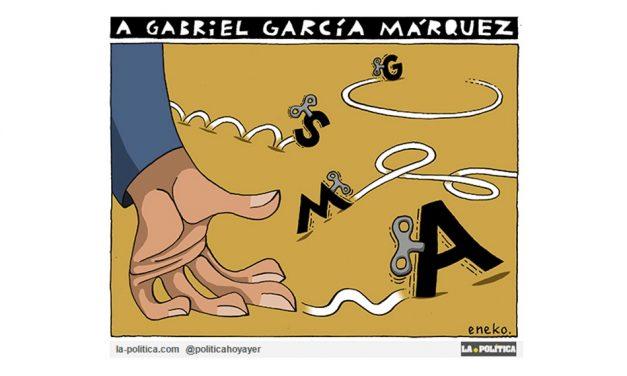 """Nuestro homenaje a Gabriel García Márquez, añadiendo un mensaje más, en forma de viñeta, al proyecto """"Un millón de mensajes a Gabo"""""""