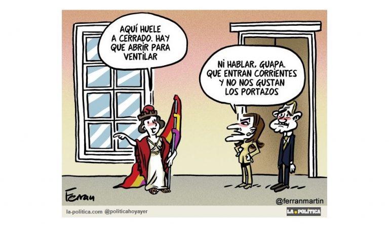 ¿Por qué necesitamos una III República? Viñeta Ferran Martín Artículo Caracola