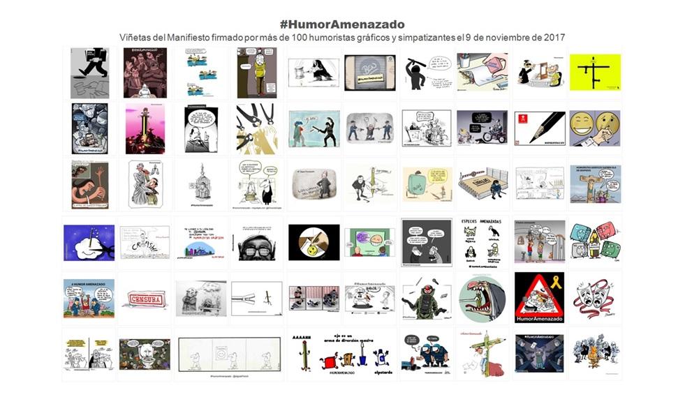 El Hashtag del Manifiesto #HumorAmenazado hoy vuelve a estar totalmente operativo en Twitter