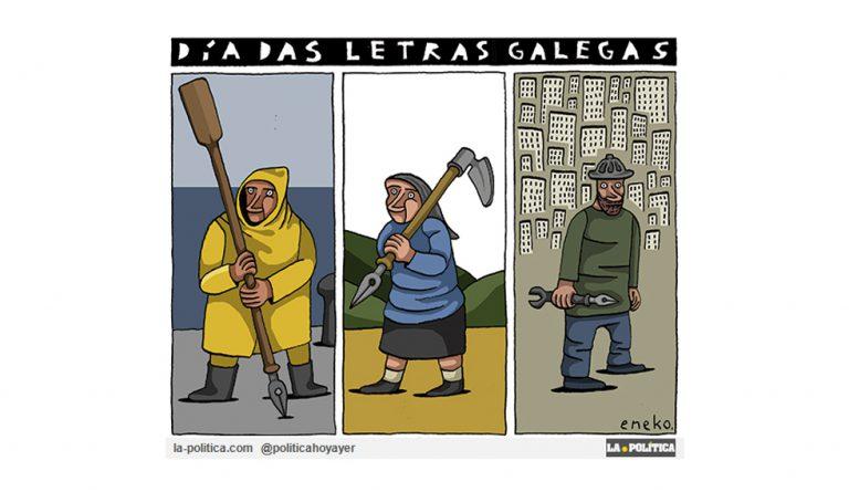 """El """"Día das Letras Galegas"""" explicado para l@s no galleg@s Viñeta Eneko"""