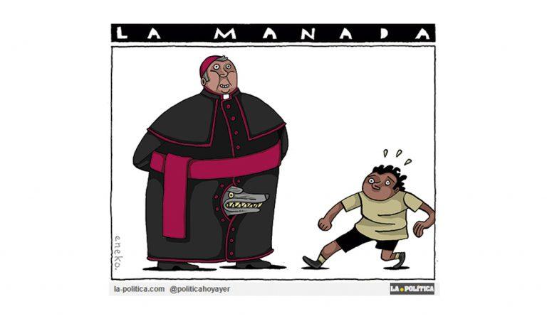 Hecho histórico: La política hasta ahora de encubrimiento de la pederastia de la Iglesia hace dimitir a todos los obispos de un país, Chile Viñeta Eneko