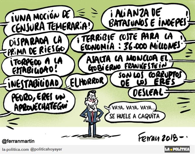 Viñeta de Ferran Martín - Moción de censura