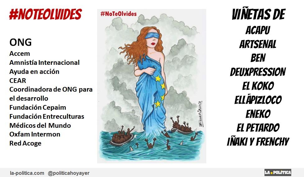 Humoristas gráficos colaboran con diez ONG para reclamar que las personas refugiadas no caigan en el olvido: #NoTeOlvides