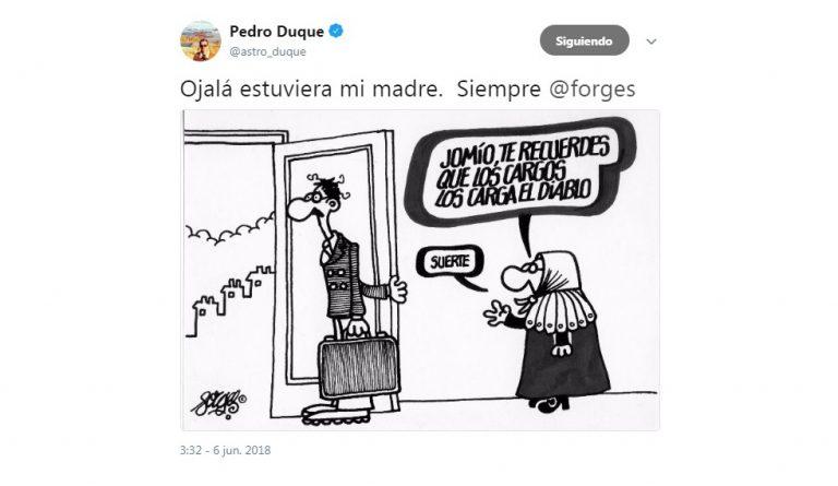 Pedro Duque, un ministro de altas miras y con gran sentido del humor Viñeta Forges