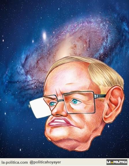 Viñeta ElLápizLoco - Stephen Hawking
