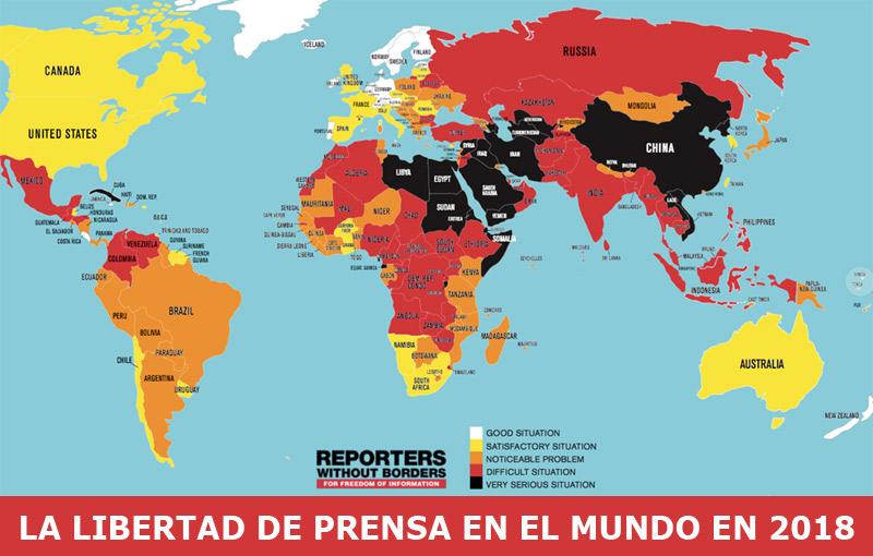 Libertad de prensa en el mundo - 2018