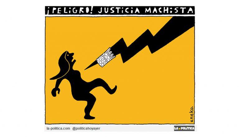 La sentencia de Juana Rivas ¿muestra una necesidad de formación de juezas y jueces en violencia machista, o la de renovación de jueces machistas devotos de un sistema patriarcal? Artículo Simone Renn Viñeta Eneko