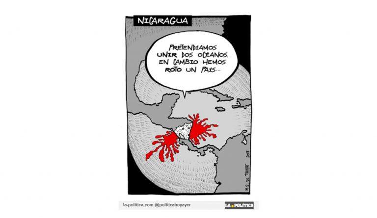 OPINIÓN | Nicaragua, un nuevo frente para la polémica. Un artículo de #DoctorKolimari Viñeta de Manuel S. de Frutos #Internacional #Iberoamérica