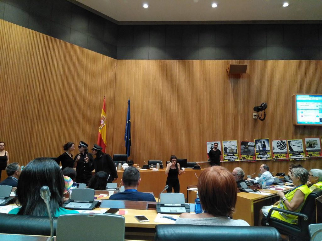 Teatro legislativo - Ley Mordaza