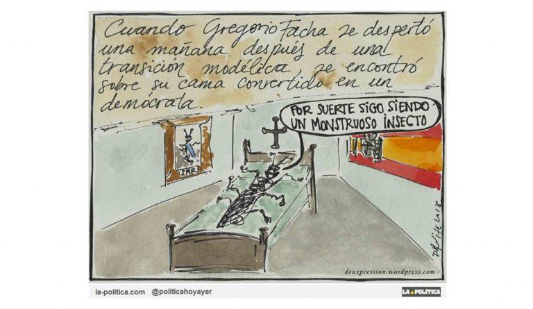 ¿Qué pasó con los fachas durante la Transición y los más de 40 años de Democracia española? Viñeta Deuxpression Artículo Simone Renn