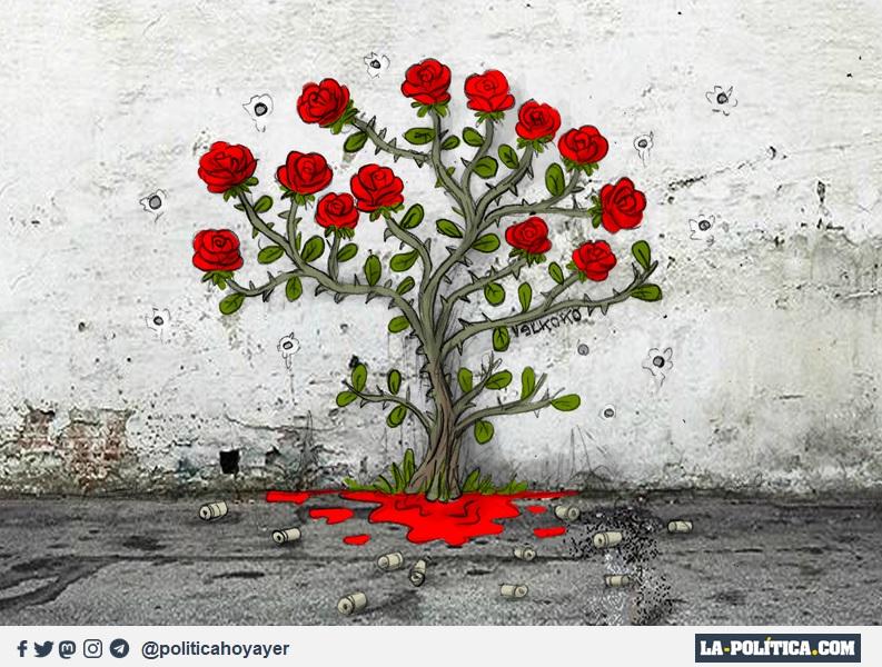 Las Trece Rosas (Viñeta de Elkoko)