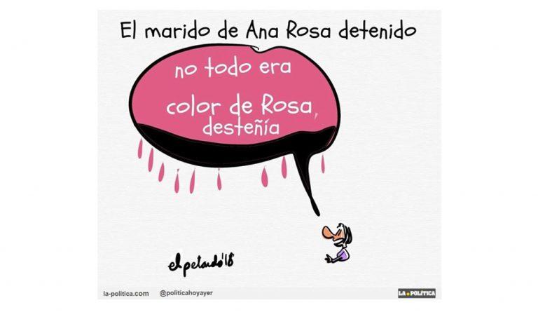 El empresario Juan Muñoz, marido de Ana Rosa Quintana, fue detenido en el marco de la operación Tandem por la que está en prisión el excomisario Villarejo Artículo Simone Renn Viñeta El Petardo