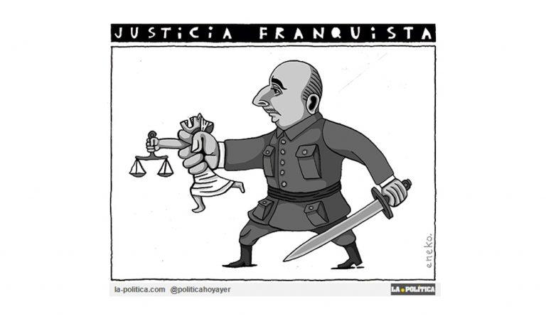 La justicia del franquismo y la Causa General Artículo Víctor Arrogante Viñeta Eneko