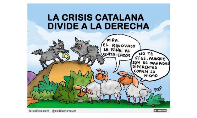 El PP afea a Rivera su actuación quitando lazos amarillos pero coinciden en su retirada y piden al Ejecutivo que estudie activar el artículo 155 en Catalunya
