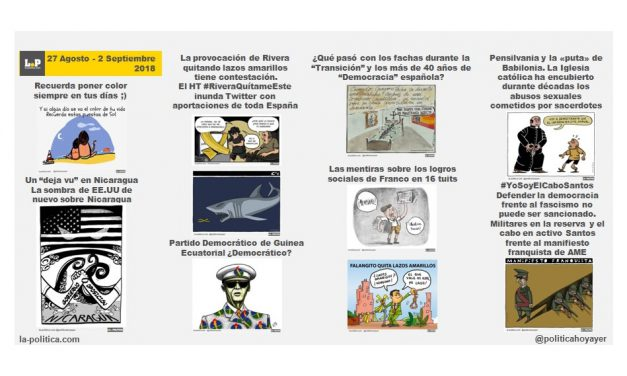 La semana en viñetas 27 agosto – 2 septiembre 2018