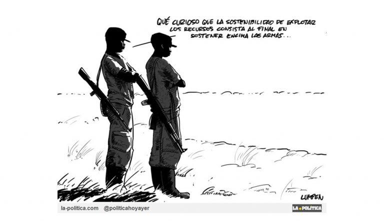 Sangre, sudor y metales se intercambian en Congo Artículo Doctor Kolimari Viñeta Lumpen