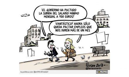 """Podemos y PSOE pactan unos presupuestos progresistas que recogen un salario mínimo de 900 Euros y la derecha se """"lleva las manos a la cabeza"""""""