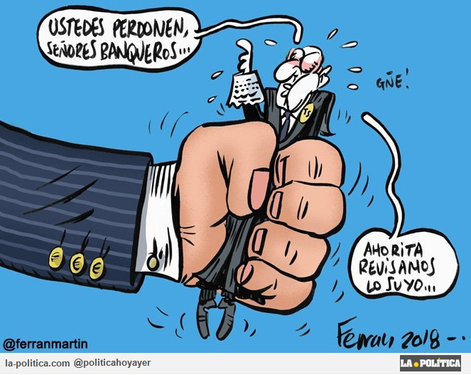La Justicia es vilipendiada en España, ahora por un caso inaudito del Tribunal Supremo acosado por los intereses de la Banca Viñetas Eneko, Ferran Martín y Polo Artículo Simone Renn