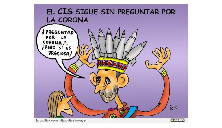 El CIS sigue sin preguntar a los españoles por la Corona Viñeta de Polo