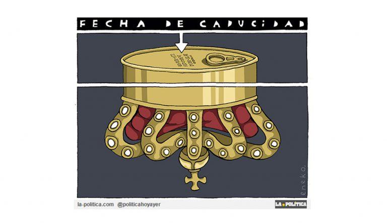 Una Monarquía en horas bajas Artículo Caracola Viñeta Eneko