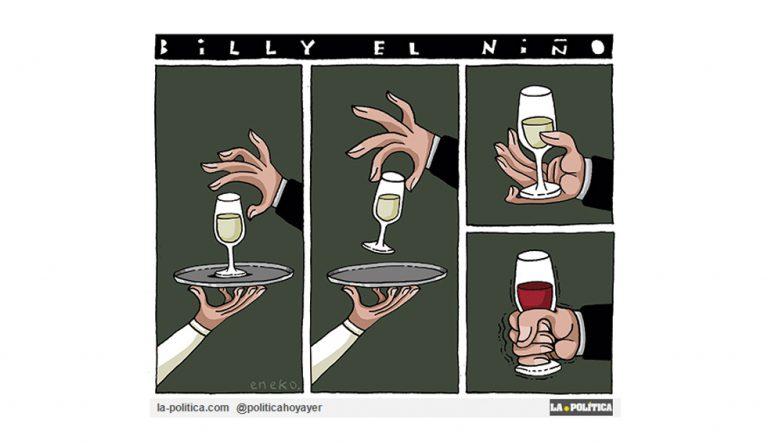 Billy el Niño de vinos Artículo Caracola Viñeta Eneko