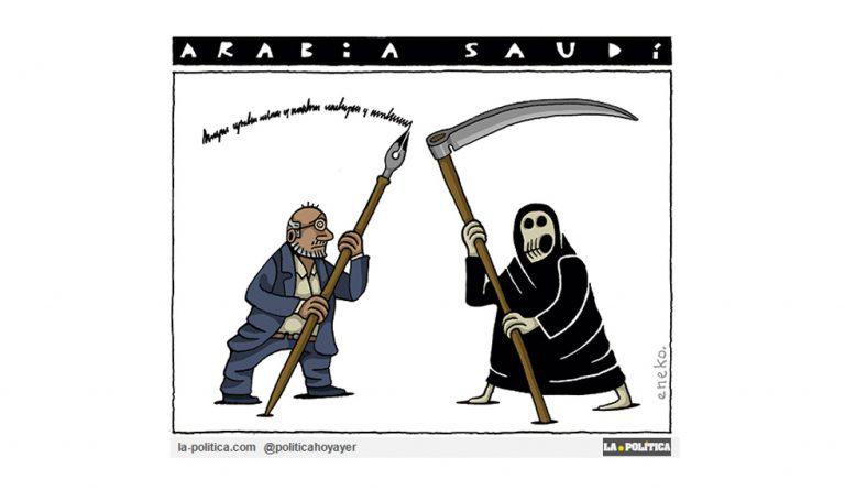 Khashoggi iba a revelar el uso de armas químicas por parte de Arabia Saudí contra la población de Yemen Artículo Simone Renn Viñeta Eneko