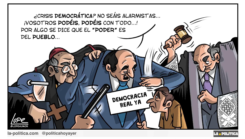 Estado fallido, violencia y represión Viñeta Lope Artículo Víctor Arrogante en colaboración con Alberto Vila