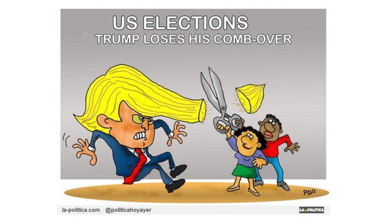 Elecciones en Estados Unidos: Los demócratas ganan en la Cámara de Representantes, los republicanos en el Senado y las mujeres alcanzan récord de representación Viñeta Polo Artículo Simone Renn