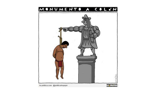 Retiran del Grand Park de la ciudad de los Ángeles la estatua de Cristobal Colón