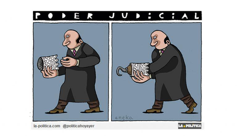 Una Justicia vendida al IBEX, machista y democráticamente regresiva Viñeta Eneko Artículo Caracola