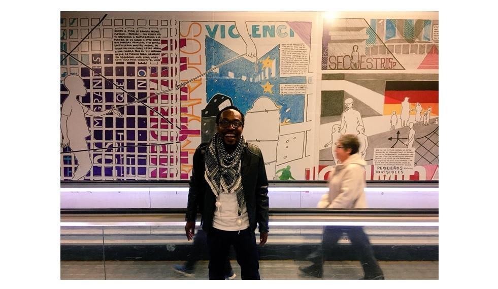 Barcelona celebra el 70 aniversario de la Declaración Universal de Derechos Humanos con la obra de Ramón Esono en el metro de Diagonal