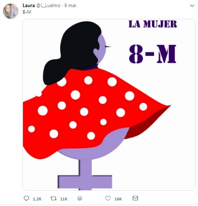 Ilustración para el 8M de Laura Luelmo