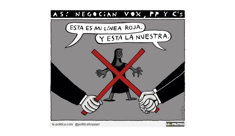Hablemos claro, la violencia machista es tortura y asesinato Viñeta Eneko Artículo Caracola