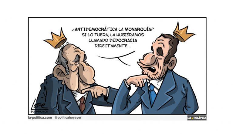 «La monarquía es antidemocrática por naturaleza» Viñeta Lope Artículo Víctor Arrogante