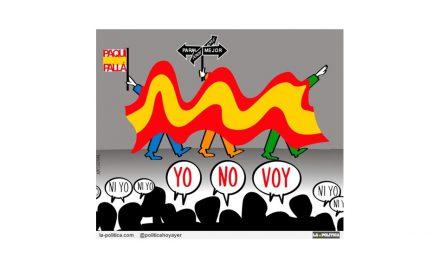 21 descalificaciones y una manifestación con gran bandera pretenden tapar que Rajoy ganó las generales de 2011 con facturas falsas y pagos ocultos